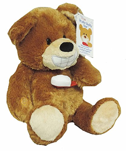 GUND刷牙巴迪熊动画毛绒动物玩具10英寸