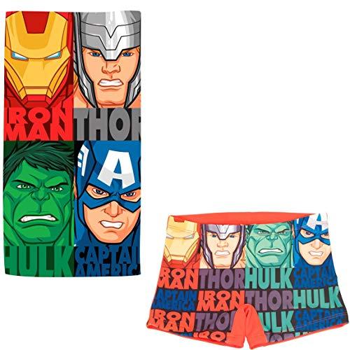 ARTESANIA Y DISEÑO TEXTIL, S.A. Bañador Avengers Los Vengadores Tipo Bóxer para niños...