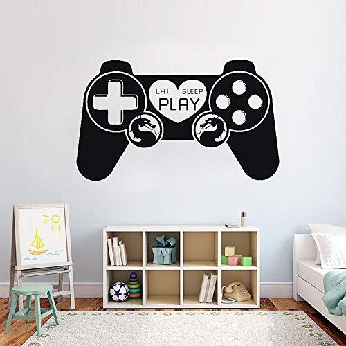 cooldeerydm Gamepad Decals jongen Game Room Slaapkamer Speler Spelgebied Decoratie Afneembare Aanbieding Muurstickers Behang Kinderkamer om te eten Slaap G712