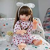 NXW 50 Cm / 20 Pulgadas Realista Renacer Toddler Muñeca DIY Kits En Blanco Suave Vinilo De Silicona Despierto Sin Pintar Muñecas Partes Boca Abierta Kit Popular