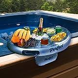 Plateau latéral gonflable avec bain à remous pour les boissons et les collations dans le spa de l'hôtel 'Perfect Pools' - Parfait pour les Fêtes Autour de la Piscine