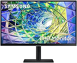 SAMSUNG S80A Series 27-Inch 4K UHD (3840x2160) Computer Monitor, IPS Panel, USB-C, HDR10 (1 Billion Colors), Height Adjustable Stand, TUV-Certified Intelligent Eye Care (LS27A800UJNXGO)