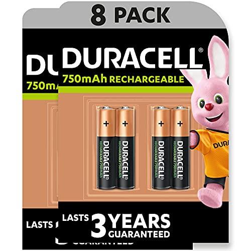 Duracell Rechargeable AAA 750 mAh Micro Akku Batterien HR03, 8er Pack [Amazon exclusive]