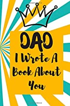 Dad I Wrote A Book About You: Prompted Fill in the Blank   What I Love About my Dad   Father's Day   Birthday Gifts From Kids