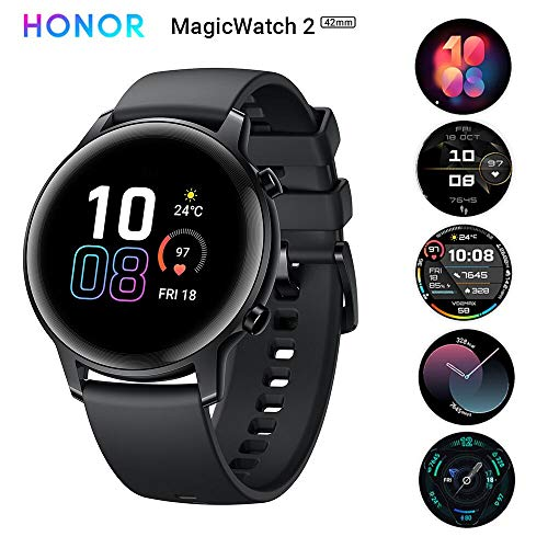 Honor Magic Watch 2 Smartwatch, 42 mm, voor heren, dames, hartslag, slaapmonitor, activiteitenbewaking, muziekbediening, intelligent sporthorloge, compatibel met Android iOS