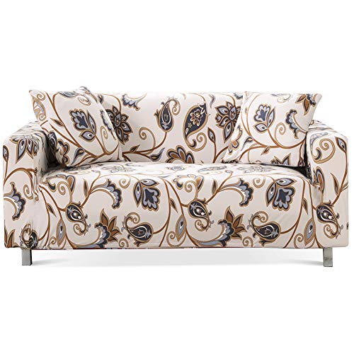 Lamberia Printed Sofa Cover Stretch Couch Cover Sofa Slipcovers for 4 Cushion Couch with Two Free Pillow Cases (Love Forever, Sofa-4 Seater)