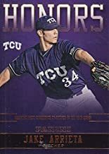 Jake Arrieta baseball card (TCU Horned Frogs, Mountain West Co-Pitcher of the Year) 2016 Panini Team Honors Collection #JA-TCU