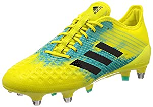 adidas Malice Control (sg) Rugby Shoes, Yellow (Shoyel/Cblack/Hiraqu Shoyel/Cblack/Hiraqu), 11 UK from adidas