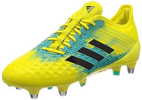 adidas Predator Malice Control (SG), Scarpe da Rugby Uomo, Giallo (Shoyel/Cblack/Hiraqu Shoyel/Cblack/Hiraqu), 42 EU