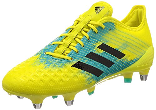 adidas Predator Malice Control (sg), Men's Rugby Shoes, Yellow (Shoyel/Cblack/Hiraqu Shoyel/Cblack/Hiraqu), 6 UK (39 1/3 EU)