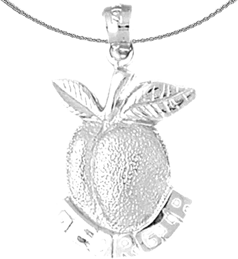 Jewels Obsession Gold Georgia Peach 14K online shopping New Orleans Mall Ge White Necklace