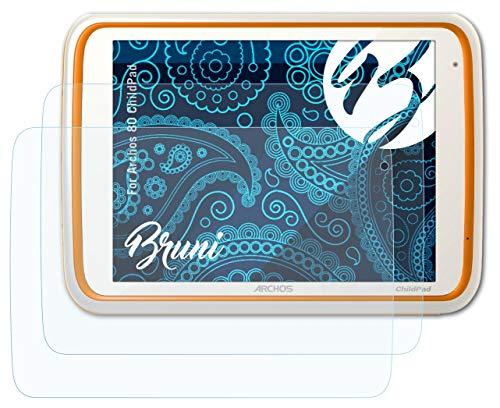 Bruni Schutzfolie kompatibel mit Archos 80 ChildPad Folie, glasklare Bildschirmschutzfolie (2X)