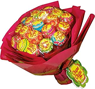 Chupa Chups Lollipop Flower Bouquet - Selection of Iconic Candy - Perfect as a Gift - 19 Lollipops