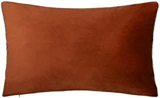 King Rose Soft Decorative Throw Pillo Cover Luxury Smooth Cushion Case Sofa Bed Living Room Couch 12 x 20 Inches Copper