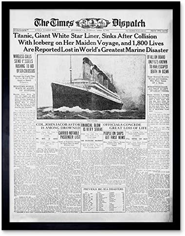 A3 Size TITANIC DISASTER NEWSPAPER EVENING NEWS Replica Vintage Poster Print Art