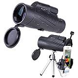 NOCOEX 10X50 Monocular Telescope,Pieza Ocular Ajustable y Prism Optico BAK4 Telescopio, con...