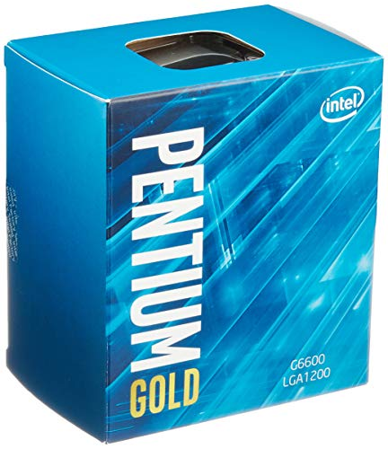 Intel Pentium Gold G-6600 Desktop Procesador 2 núcleos 4,2 GHz LGA1200 (chipset Serie Intel400) 58W