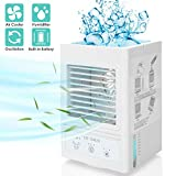Portable Air Cooler, 5000 mAh Battery Powered Evaporative Coolers Personal Space Cooler 700ml