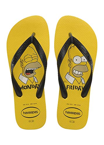 Chinelo Simpsons, Havaianas, Adulto Unissex, Amarelo Ouro, 41/42