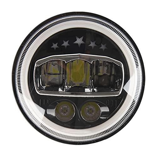 FANGFANGWAN 1pc 7 Pulgadas de Trabajo Redondo luz Impermeable DIRIGIÓ Accesorio for Faros for SUV Coche (Color : Assorted Color)