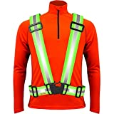 Tuvizo Reflective Safety Vest for Running or Cycling - Comfortable Reflective Gear for High Visibility (Yellow S/M/L)