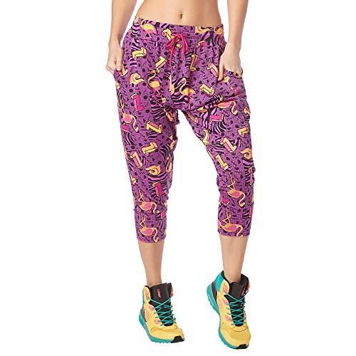Zumba Harem Pantaloni Capri Donna da Allenamento Activewear Pantaloni Tuta Donna Morbidi, Power Purple, XL