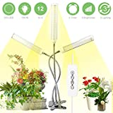 Lampe de Croissance pour Plantes 150W 315LEDs, Spectre Complet Lampe à LED pour plantes LED Horticole Lampe LED Grow Light pour Les Plantes Horticole Légumes Floraison en Intérieur avec 3 minuteries