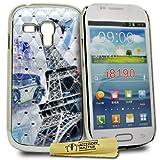 Accessory Master - Carcasa de plástico para Samsung Galaxy S3 Mini i8190, diseño de Torre Eiffel con cristales