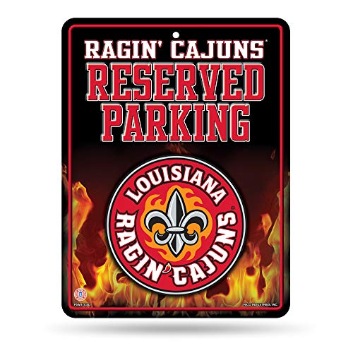 NCAA Louisiana Lafayette Ragin' Cajuns 8.5-Inch by 11-Inch Metal Parking Sign Décor