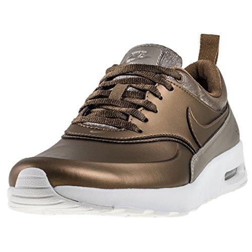 Nike Damen Air Max Thea Premium Braun Textil/Leder/Synthetik Sneaker 40.5