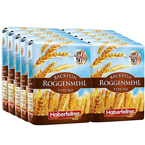 Roggenmehl Type 997 (DE) 960 (AT) Hochwertiges Mehl - gentechnikfrei und pestizid-kontrolliert | Ideal zum Backen von Brot, Lebkuchen und Gebäck