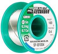 goot(グット) 低銀鉛フリーはんだΦ0.4mm スズ99%/銀0.3%/銅0.7% 100gリール巻 ヤニ入り SF-B1004