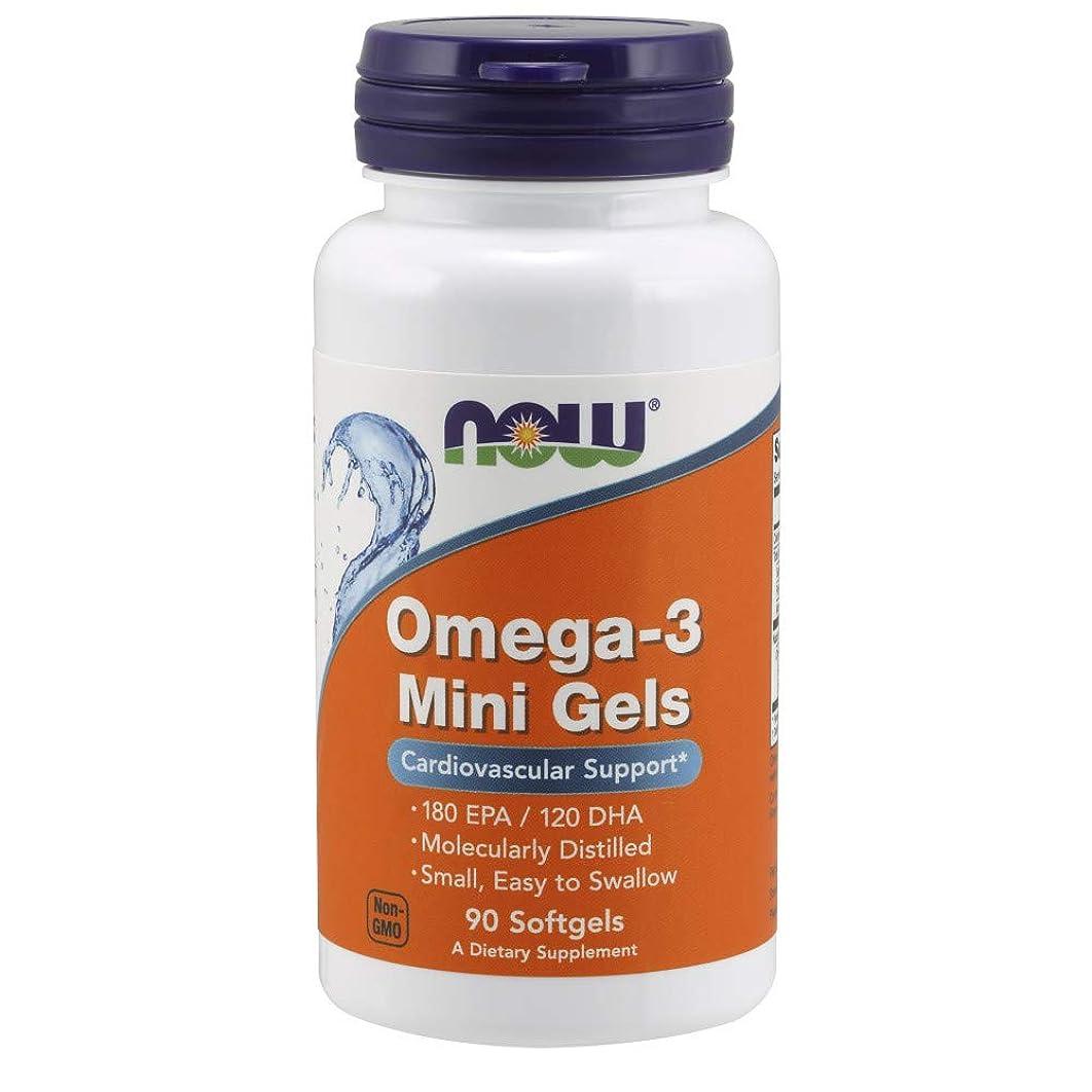 やろう色大使館[海外直送品] ナウフーズ   Omega-3 Mini Gels 90 softgels 500 mg