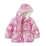 Zero Xposur Toddler Girls Pink Leopard Print Winter Ski Jacket Puffer Coat
