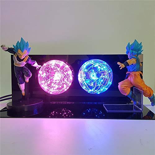 Dragon Ball Z Figura De Acción Goku Vs Vegeta Escenas DIY Luz Led Dragon Ball...
