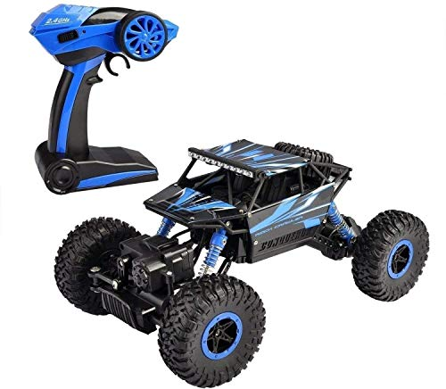 ZMY 2.4GHz Big Foot Remoto RC Stunt Rally ADECUADOS RC Car 4WD Vehículos Fuera de la Carretera Spring Shock Alloy Body Shell Niños Regalo para Cualquier Terreno para Adultos y niños Mejores Regalos