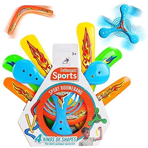 ZoneYan Boomerang Sport Spielzeug, Boomerang Outdoor, Boomerang Sport, 4 Pcs Boomerang Toy, Boomerang Set, Bumerang Für Kinder, Werfen Fliegendes Spielzeug