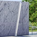 Magnus Home Products Kumuda Freestanding Stainless Steel Outdoor Shower Panel w/Foot Shower, 4' L x 3' W, 25.0 lb