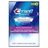 Crest 3D White Whitestrips Monthly Whitening Boost Teeth Whitening Kit, 12 Treatments