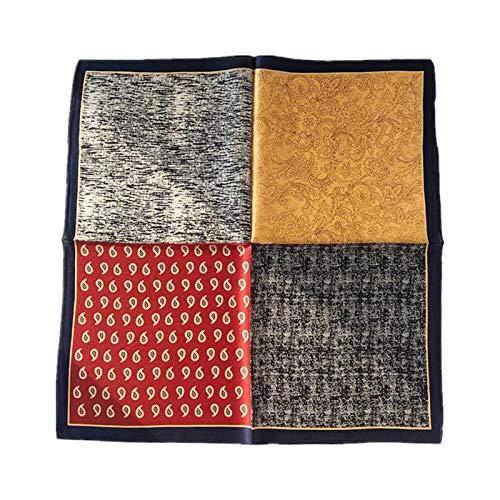 DREAMING-Cuatro Estaciones Con Bufanda De Seda Anacardos Cosiendo Corea 100% Seda Bufanda De Seda Bufanda Cuadrada Decorativa Bufanda Cuello Toalla Regalo