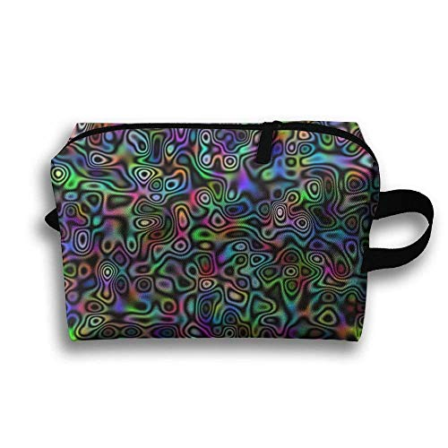 Lila psychedelische Trippy tragbare Reise-Make-up-Tasche, Aufbewahrungstasche-tragbare Damen-Reise-Quadrat-Kosmetiktasche