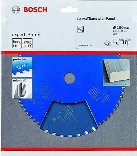 Bosch Professional 2608644367 Kreissägeblatt Expert for Sandwich Panel (190 x 30 x 2 mm, Zähne 36, Zubehör Kreissäge), Farbe, Ø 190 mm