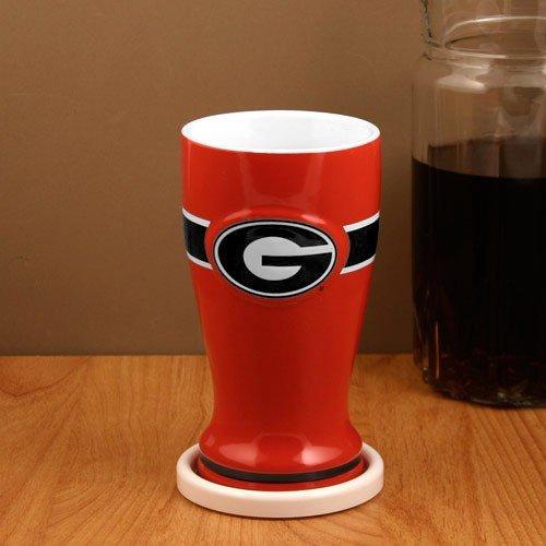 Georgia Bulldogs Red 16oz. Ceramic Pilsner
