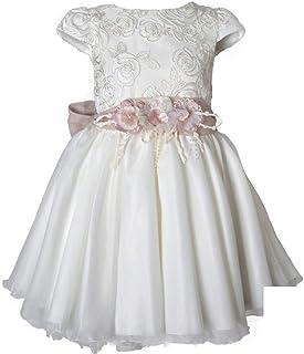 MIMILU' Vestido de niña para ceremonia, elegante, color blanco, 239