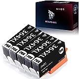 Wolfgray 364 XL Cartuchos de Tinta Compatible para HP 364XL Deskjet 3070A 3520 Officejet 4620 4622 Photosmart 5510 5511 7520 7510 5512 5514 5515 5522 5524 5520 6510 6520 D5460 C5380 B010a B109a(5 PBK)