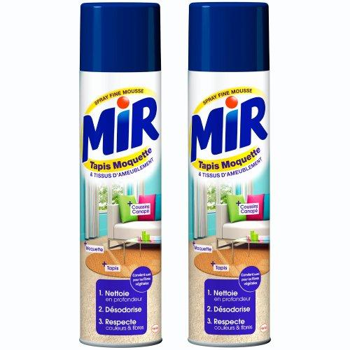 Mir Tapis Moquette - Nettoyant Tapis et Moquettes - Spray Mousse 600 ml - Lot de 2