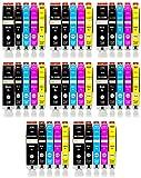 Amaprint 40 XL cartucce compatibili con Canon PGI 550 CLI 551 per Pixma IP7200 IP7250 IX6800 IX6850 MG5400 MG5450 MG5500 MG5550 MG5600 MG5650 MG5655 MG6400 MG6450 MG6600 MG6650 MX725 MX920 MX925