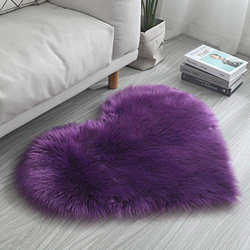 Heart-shaped Plush Floor Mats By The Bedroom Bed Girly Heart Cute Wind Small Cushions Home Love Net Red Carpet Bedroom Sofa Corridor Floor Mats G-30 x 40 cm