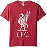 Fifth Sun Official Liverpool FC Bird Logo Men's Tee, red//as Heather, Large