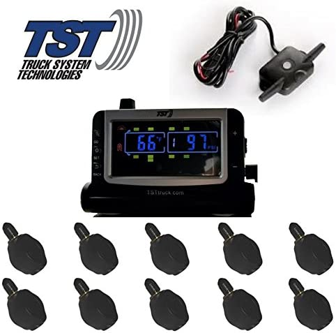 Truck Systems Technology TST 507 Tire Pressure Monitor w/ 10 Flow-Thru Sensors with Color Display
